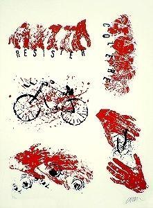 Litografia Arman - Résister Colère