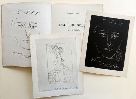 Libro Illustrato Picasso - R.-J. Godet : L'AGE DE SOLEIL. Gravures de Pablo Picasso (1950).