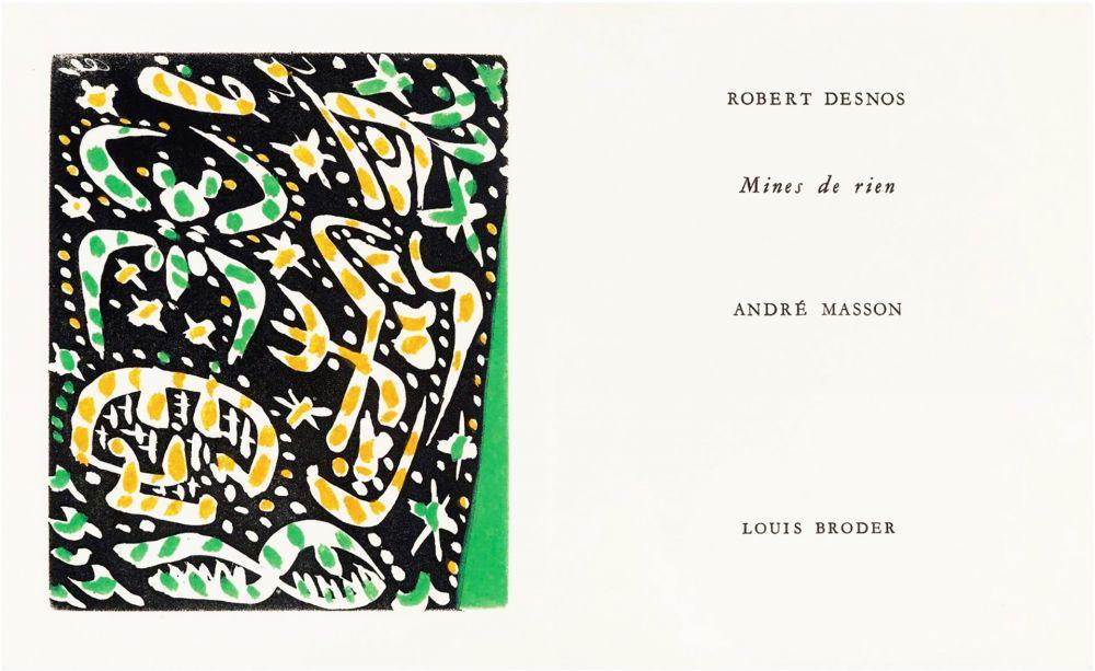 Libro Illustrato Masson - R. Desnos: MINES DE RIEN. 4 gravures originales en couleurs (1957).