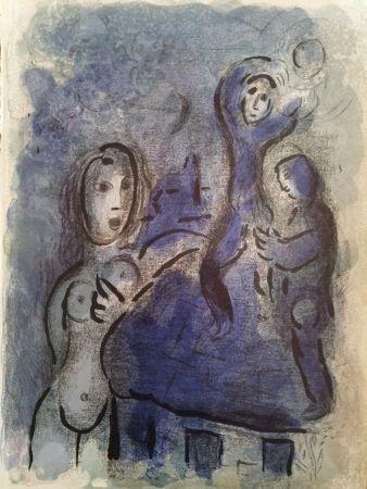 Litografia Chagall - Rahah et les espions de Jéricho