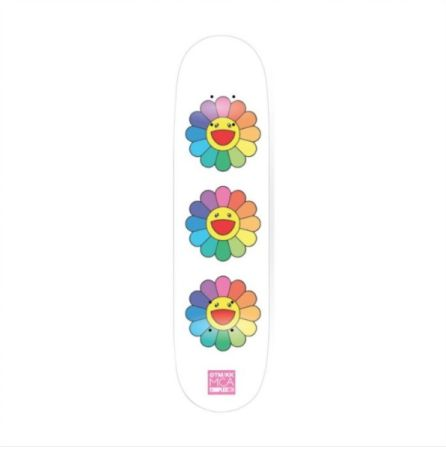 Non Tecnico Murakami - Rainbow Flower Skate Deck