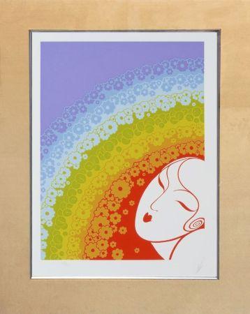 Serigrafia Erte - RAINBOW IN BLOSSOM
