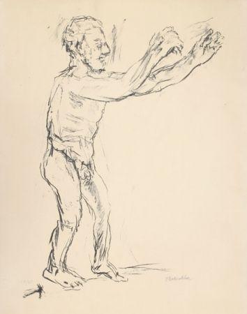 Litografia Kokoschka - Reaching Man