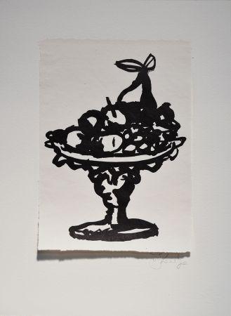 Linoincisione Kentridge - Rebus Fruitbowl