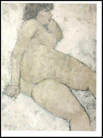 Litografia Portway - Reclining Nude