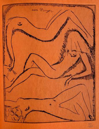 Incisione Van Dongen - Reclining Nudes