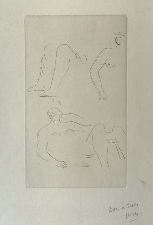 Incisione Moore - Reclining Nudes