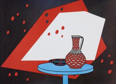 Litografia Caulfield - Red and White Still Life