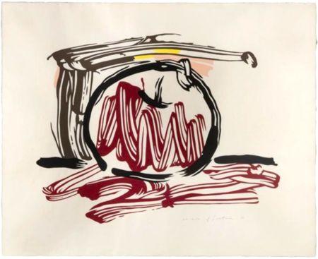 Incisione Su Legno Lichtenstein - Red Apple, from Seven Apple Woodcuts Series (C. 196)