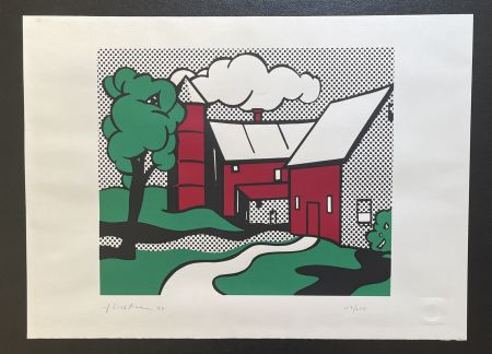 Serigrafia Lichtenstein -  Red Barn