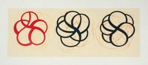 Litografia Kauffman - Red, Black, Black