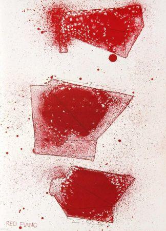 Litografia Dine - Red Piano