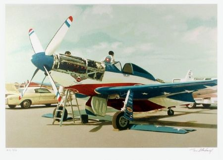 Litografia Blackwell - Red, White & Blue Mustang