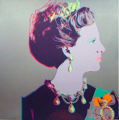 Serigrafia Warhol - Reigning Queens, Queen Margrethe II of Denmark