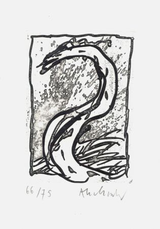Acquaforte Alechinsky - '' Rein, comme si de rien ''