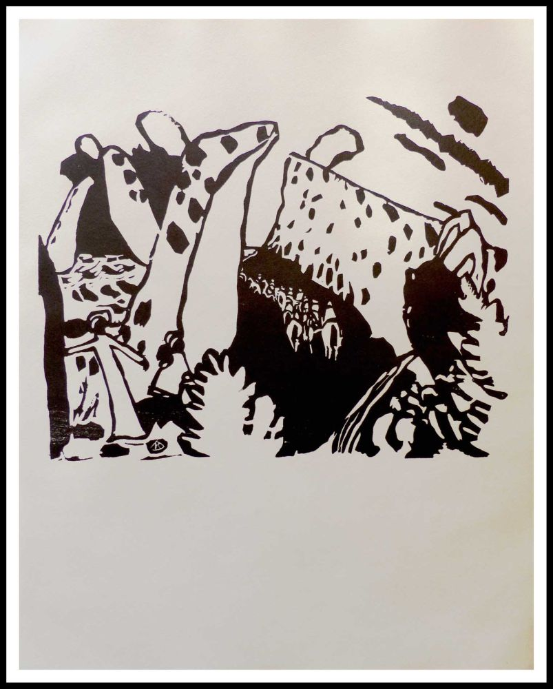 Incisione Su Legno Kandinsky - REITERWEG