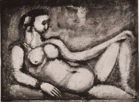 Acquatinta Rouault - Remords Posthume
