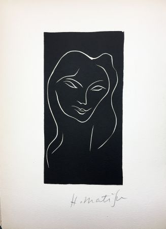 Libro Illustrato Matisse - René Char : LE POÈME PULVÉRISÉ. Linogravure originale signée (1947).