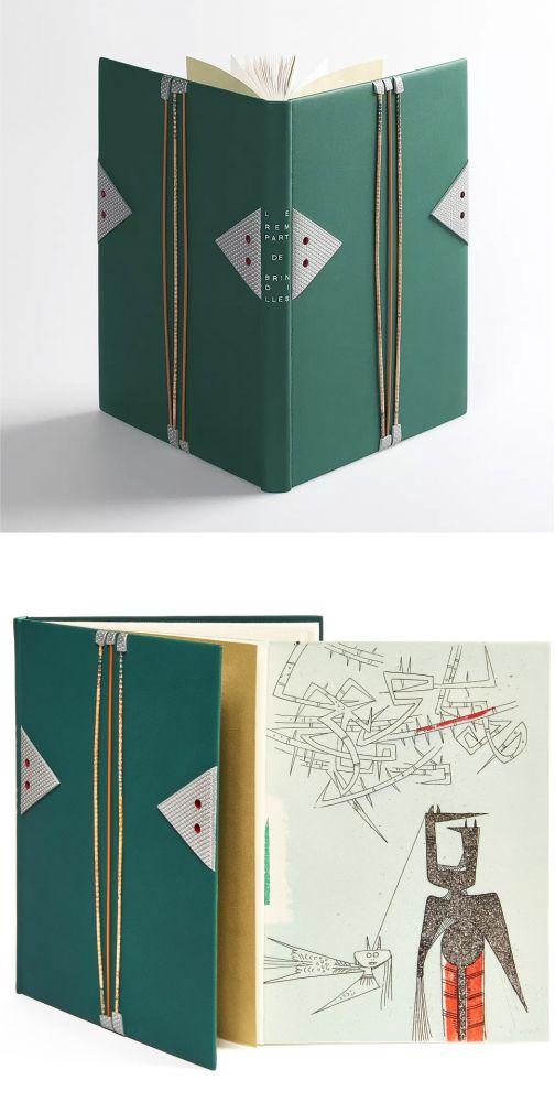 Libro Illustrato Lam - René Char. LE REMPART DE BRINDILLES. 1 des 15 aquarellés par Wilfredo Lam (L. Broder 1953).