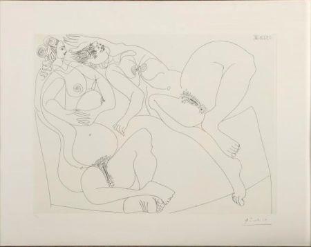 Acquaforte Picasso - Repos. Deux Filles Bavardant