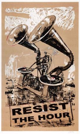 Serigrafia Kentridge - Resist The Hour