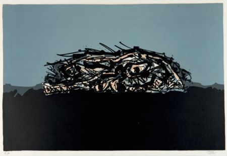 Litografia Saura - Retrato imaginario de Goya