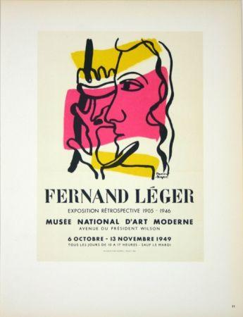 Litografia Leger - Retrospective  Musée D'Art Moderne