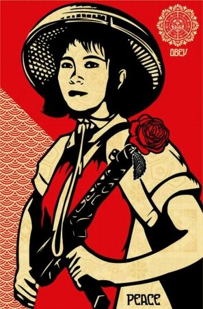 Serigrafia Fairey - Revolution Woman