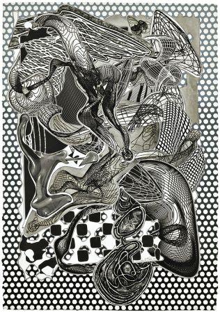 Serigrafia Stella - Riallaro (Black and White), from the Imaginary Places Series