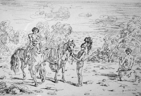 Litografia De Chirico - Ritorno alla sponda di Corinto