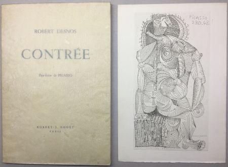 Libro Illustrato Picasso - Robert Desnos. CONTRÉE.