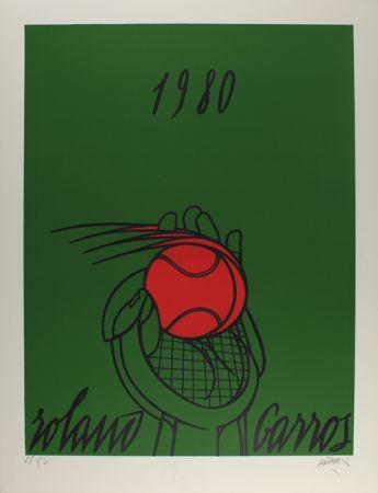 Litografia Adami - Roland Garros (vert)