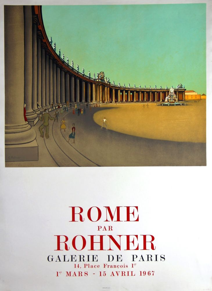 Litografia Rohner - Rome  Galerie de Paris