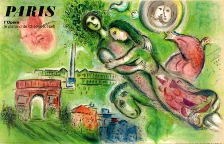 Litografia Chagall - Romeo And Juliet