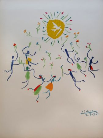 Litografia Picasso - Ronde de la jeunesse (The Youth Circle)