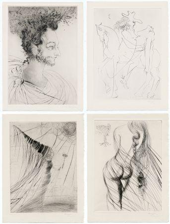 Libro Illustrato Dali - Ronsard : LES AMOURS DE CASSANDRE. 18 pointes-sèches originales. 1968.