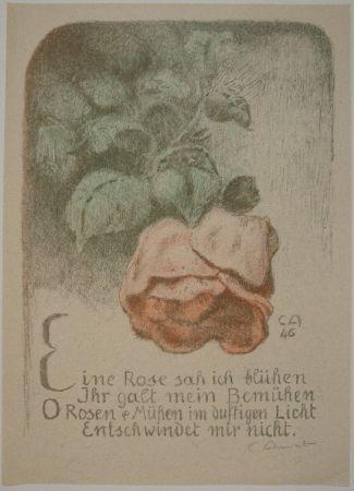 Litografia Amiet - Rose