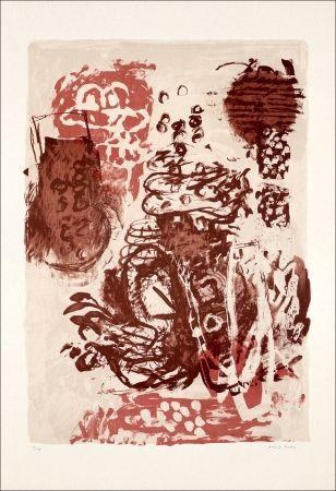Litografia Grau - Rose et marron