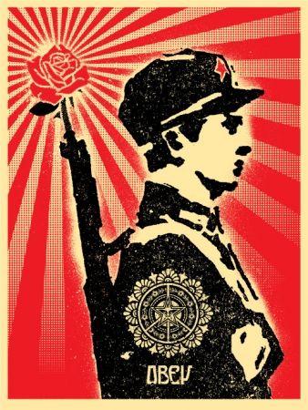 Serigrafia Fairey - Rose Soldier