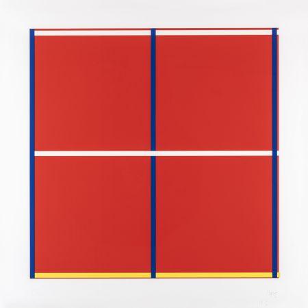 Serigrafia Knoebel - Rot, Gelb, Weiss, Blau 01