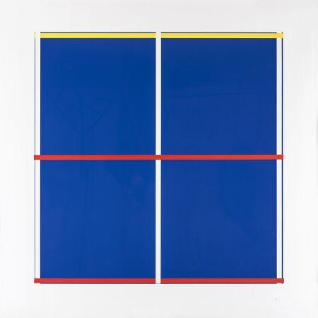 Serigrafia Knoebel - Rot, Gelb, Weiss, Blau 03