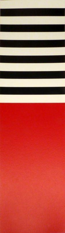 Serigrafia Nemours - Rot – weiss – schwarz