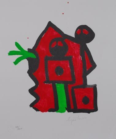 Litografia Ionesco - Rouge au noir