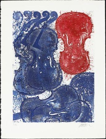 Acquaforte Arman - Rouge et bleu