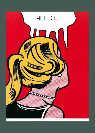 Litografia Lichtenstein - Roy Lichtenstein 'Cold Shoulder', Original Pop Art Poster, Hand Signed, 1987