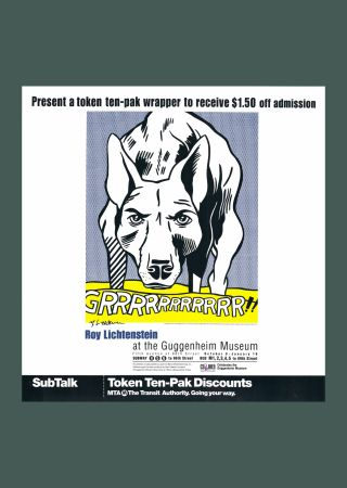Litografia Lichtenstein - Roy Lichtenstein 'Grrrrrrrrrrr!!' 1993 Hand Signed Original Pop Art Poster