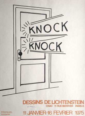 Litografia Lichtenstein - Roy Lichtenstein 'Knock Knock' 1975 Hand Signed Original Pop Art Poster