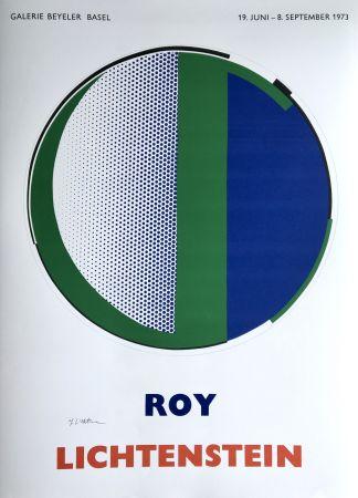 Serigrafia Lichtenstein - Roy Lichtenstein 'Mirror' 1973 Hand Signed Original Pop Art Poster