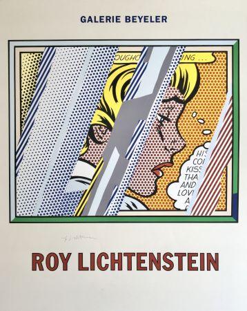 Litografia Lichtenstein - Roy Lichtenstein 'Reflections on Girl' 1990 Hand Signed Original Pop Art Poster