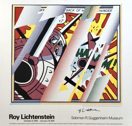 Litografia Lichtenstein - Roy Lichtenstein 'Reflections: Whaam!' 1993 Hand Signed Original Pop Art Poster